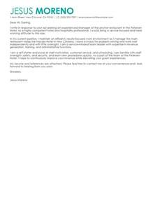 Cover Letter For Hospitality Industry by Hotel Hospitality Cover Letter Exles Livecareer