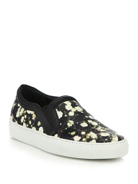 s givenchy sneakers lyst givenchy baby s breath printed leather skate sneakers