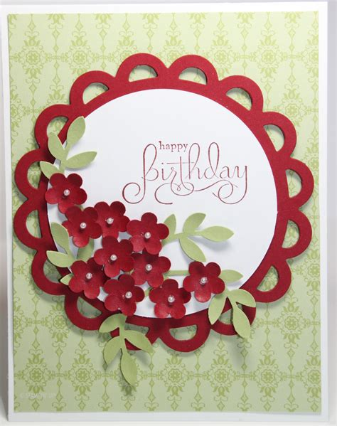 Happy Birthday Handmade - happy birthday flower bouquet card stin up handmade