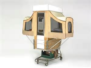 Camper kart is a tiny home that pops out of a shopping cart camper
