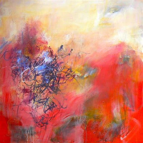 layers of acrylic paint on canvas blush by longcope painted on gallery wrap stretched
