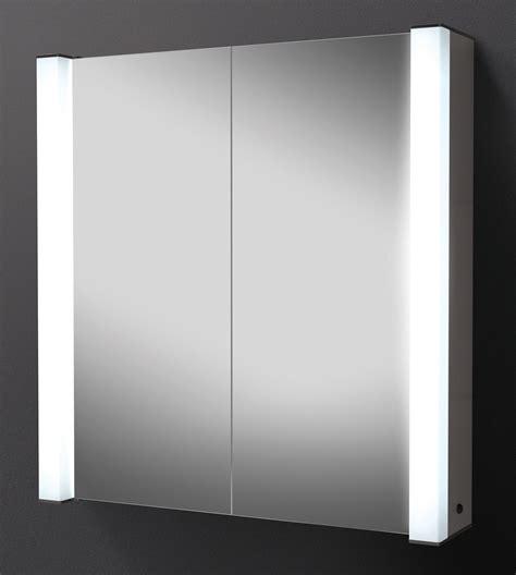hib photec door illuminated aluminium mirrored
