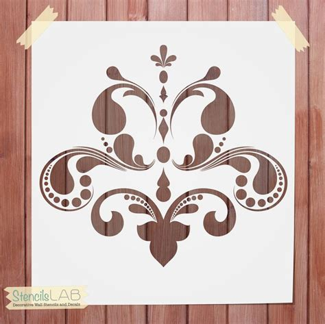 wall stencil templates free decorative wall stencil damask stencil for wall decor