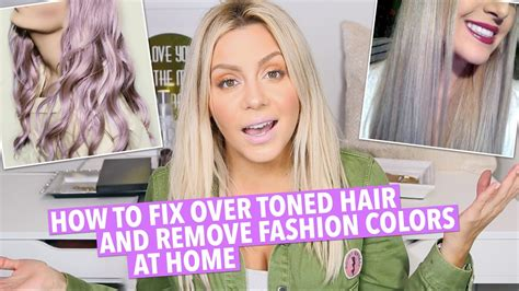 can i lut ash blond over golden blond how to fix over toned hair at home youtube