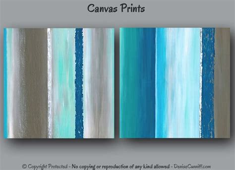 Aqua Blue Bedroom abstract wall art for teal turquoise or navy blue and