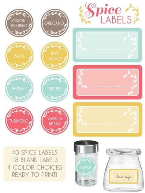 spice jar label templates the world s catalog of ideas