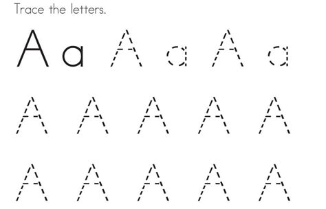 printable traceable fonts a letter tracing letter coloring page preschool