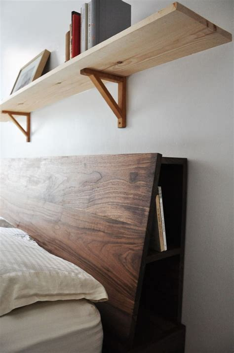 how to build a size headboard with shelves