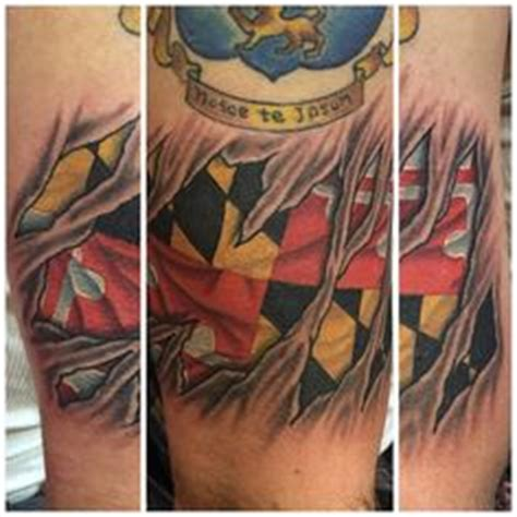 maryland flag tattoo designs 3d skin rip maryland flag by shady smith