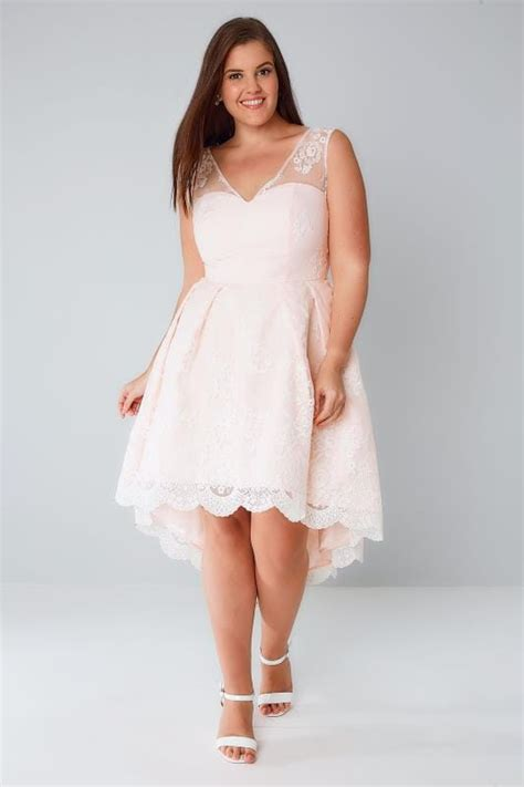 Flower Lace Dress Black Pink Ml chi chi pink floral lace overlay dress with dipped hem plus size 16 to 26