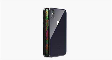 3d apple iphone xs space turbosquid 1370118