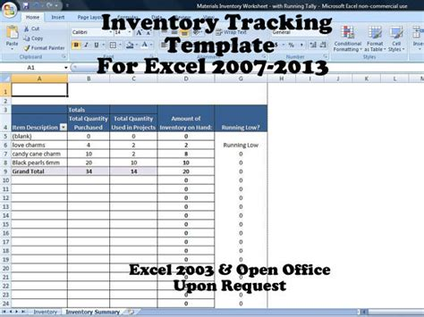 Running Inventory Excel Template Inventory Tracker Excel Inventory System For Small Business