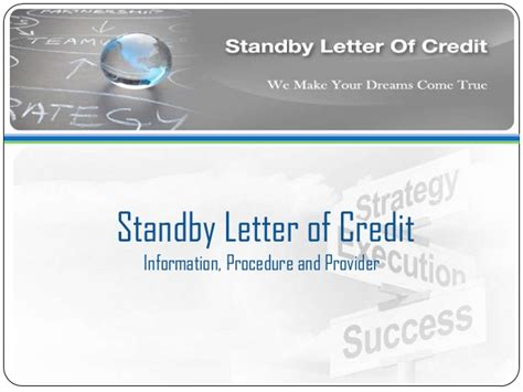 Standby Letter Of Credit Contract avail standby letter of credit sblc bronze wing trading