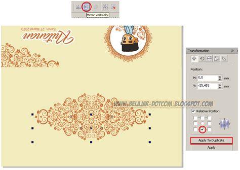 cara membuat desain undangan dengan corel draw cara mudah membuat desain undangan khitan sendiri dengan