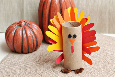 Thanksgiving Toilet Paper Roll Crafts - gobble gobble make a paper turkey craft