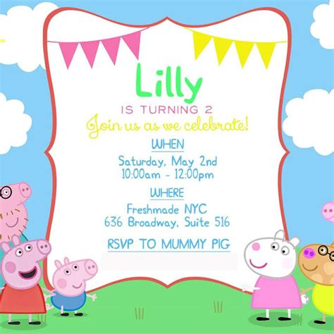 peppa pig invitation card template 18 images of peppa pig invitations template blank