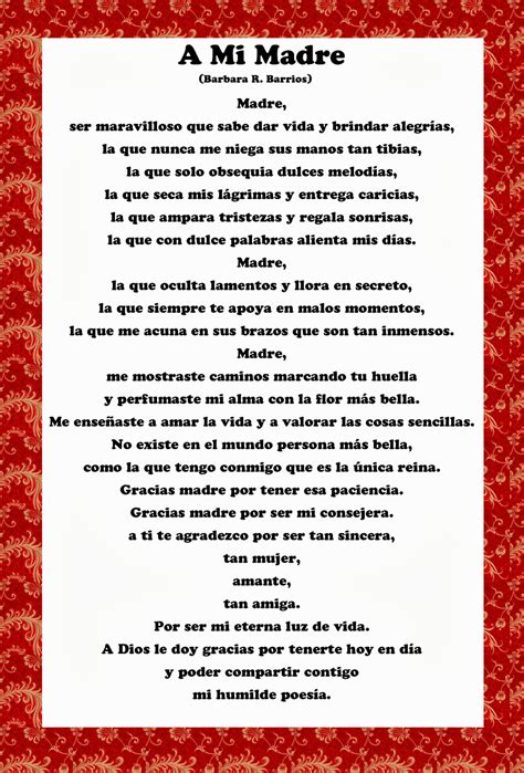 spanish mothers day poems happy mothers day quotes in spanish quotesgram