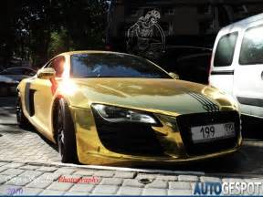 audi r8 gold another victim of a bling loving owner