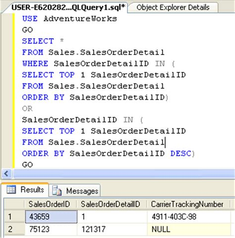 sql select sql server how to retrieve top and bottom rows together