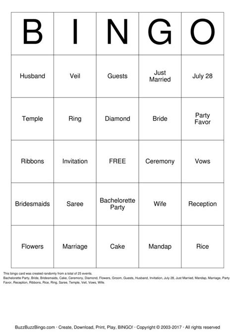 Bridal Shower Bingo Cards by Bridal Shower Bingo Cards To Print And Customize