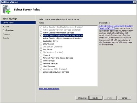 Finder Services Configuring The Lightweight Directory Services Part 2