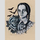 Wednesday Addams Drawing   500 x 667 png 527kB