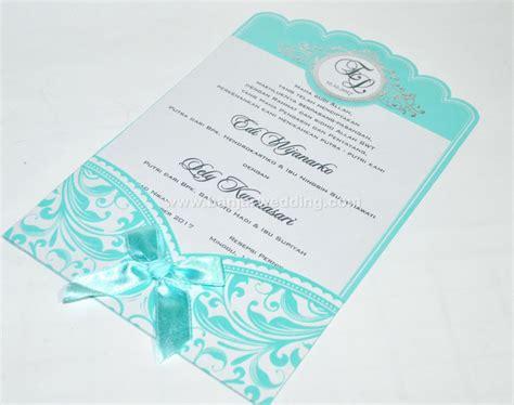 Undangan Pernikahan Unik 2 undangan pernikahan pita cantik el07b banjar wedding