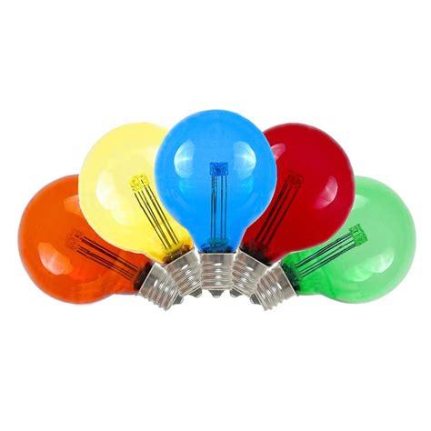 Buy Multi Colored LED G40 Glass Globe Light Bulbs