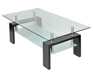 glas tisch glastisch wohnzimmer couchtisch 120 x 65 cm in schwarz