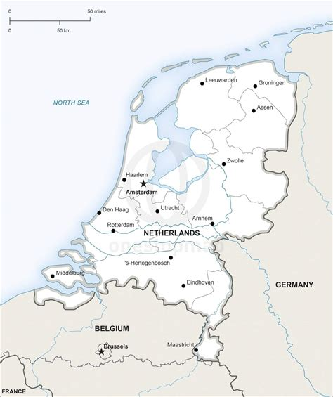 netherlands map pdf vector map of netherlands political one stop map