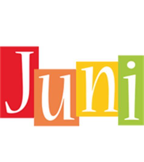 juni logo name logo generator smoothie summer