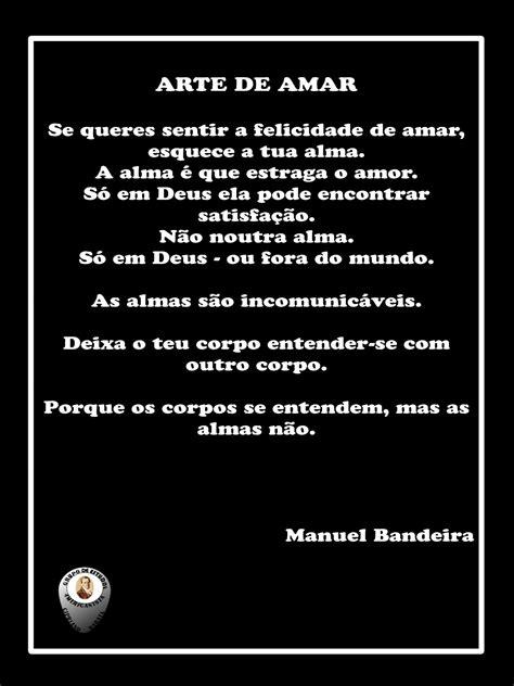 ARTE DE AMAR - Manuel Bandeira (poesia) | G.E.A. Cipriano