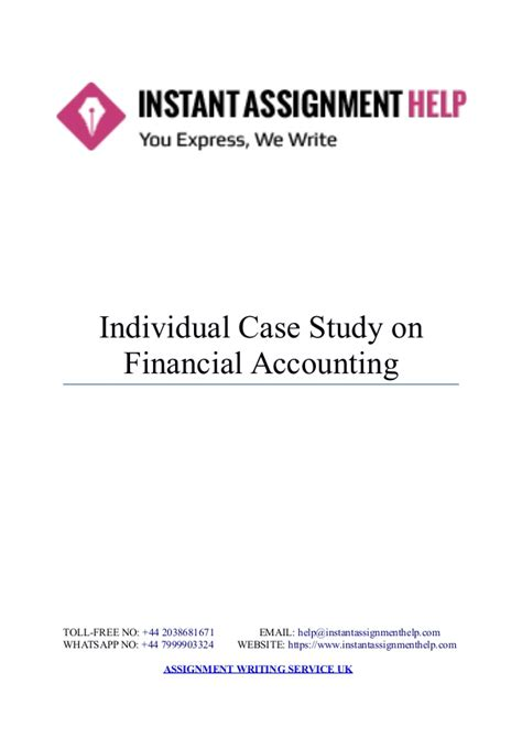 Mba Financial Accounting Primer Se by Instant Assignment Help Study On Financial Accounting
