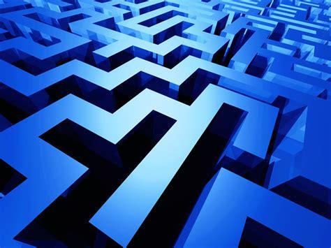 3d blue maze wallpaper 61185 1600x1200px
