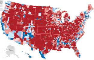 us voting map by county common cents 2016 presidential election maps