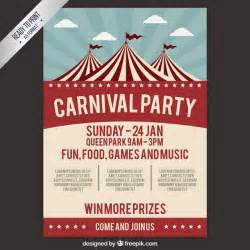 carnival poster template carnival poster in retro style vector free