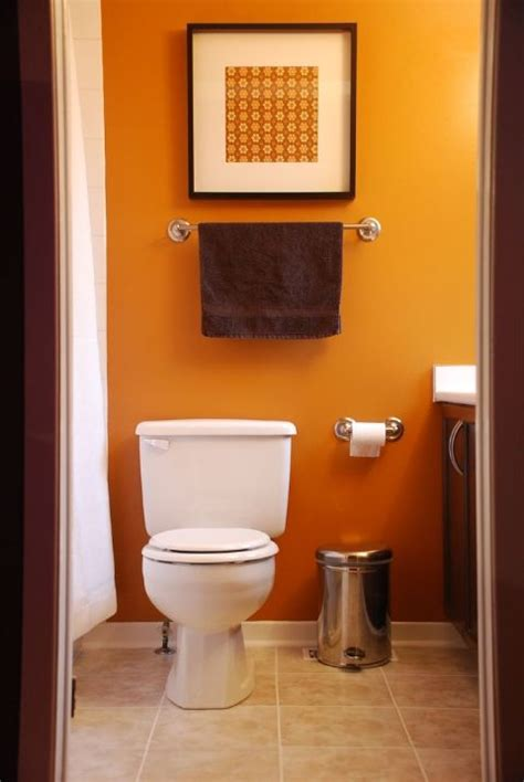 Design For Burnt Orange Paint Colors Ideas Orange Bathroom Guest Bath Burnt Orange Brown Beige Pinterest Small Bathroom Paint