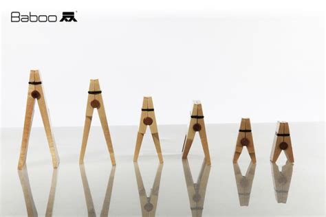 Wooden Photo Clip T0210 2 baboo wooden by shahaf ben abu tuvie