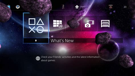 ps4 themes galaxy 3 epic 3d galaxy themes in one theme on ps4 official