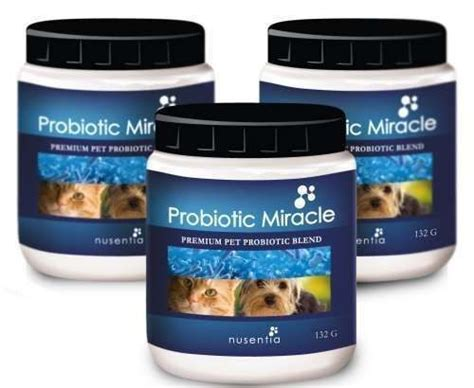 nusentia probiotic miracle probiotics for dogs 132g dogs