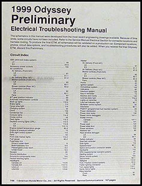 car engine repair manual 1999 honda odyssey user handbook 1999 isuzu oasis owner s manual original