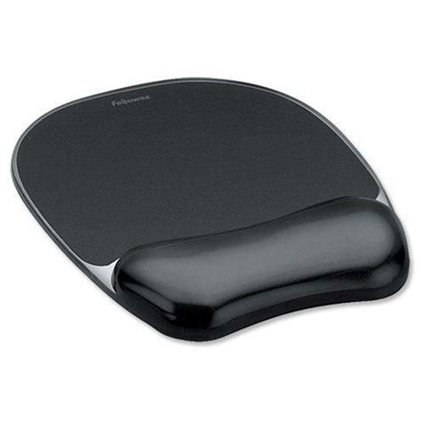 Mouse Pad Gel fellowes mouse mat pad with wrist rest gel black
