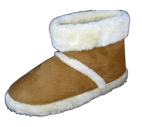fur slipper boots mens dunlop boots new slip on warm luxury faux fur lined