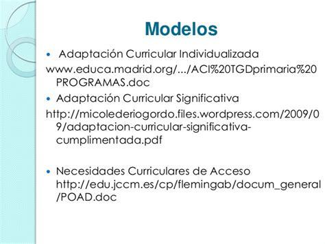 Modelo Adaptacion Curricular Significativa Ingles atenci 243 n a la diversidad medidas ordinarias y