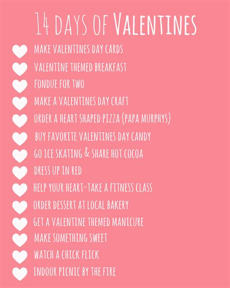 14 days valentines ideas 14 days of valentines for him 28 images 14 days of a