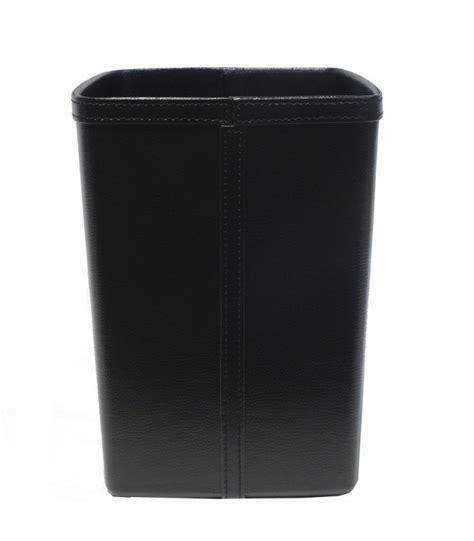 corbeille bureau corbeille 224 papier de bureau en similicuir noir