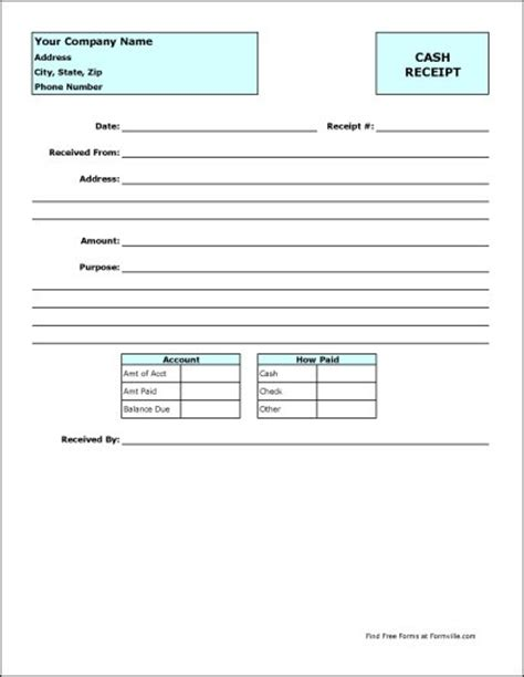Cash Receipt Template Helloalive Professional Receipt Template
