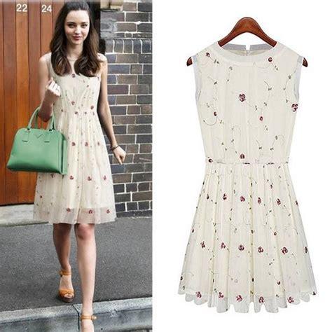 2 Warna A9479 Flower Midi Midi Dress Dress Flower Dress Bunga rosalin summer 2015 casual dress novelty