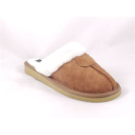 suede slippers s lotus dewwy suede mule slipper with faux fur trim