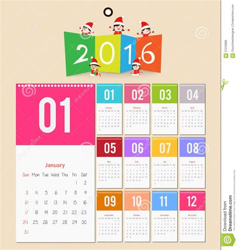 design of calendar 2016 template design calendar 2016 with paper page for months